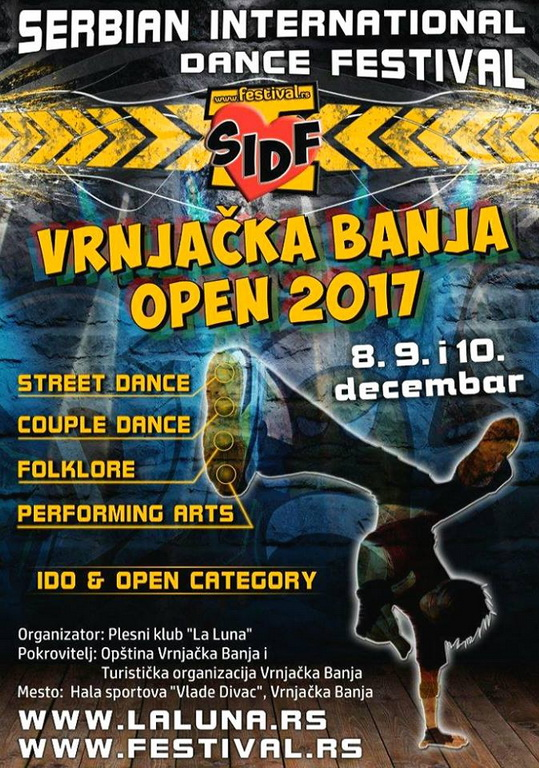 SERBIAN INTERNATIONAL DANCE FESTIVAL - Vrnjačka Banja Open 2017